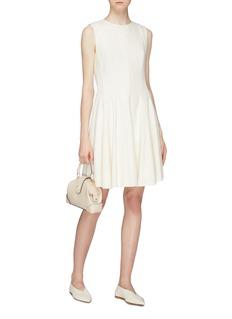 Theory Sleeveless canvas tweed dress
