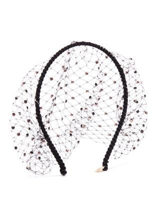 Figure View - Click To Enlarge - Gigi Burris Millinery - Swarovski crystal veil headband