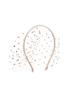 Gigi Burris Millinery Swarovski crystal veil headband