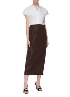 Theory Mandarin collar short sleeve shirt