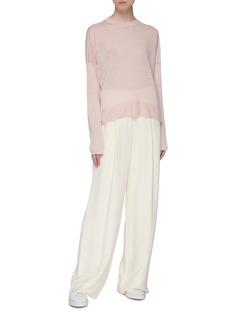 Theory 'Karenia' split side linen blend sweater