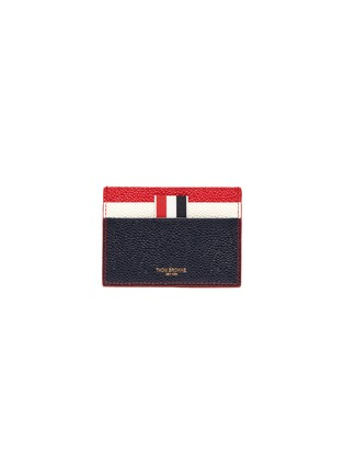 Main View - Click To Enlarge - Thom Browne - Colourblock pebble grain leather card holder