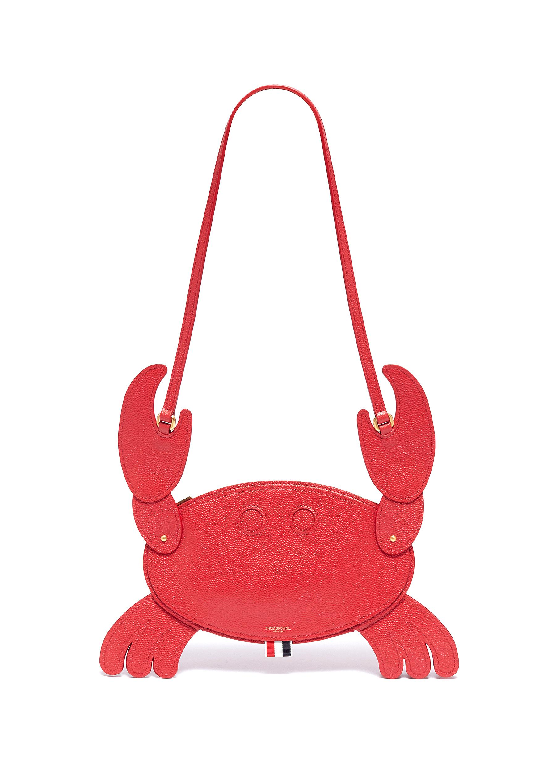 536a692646 Main View - Click To Enlarge - THOM BROWNE - Leather crab crossbody bag