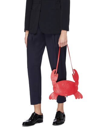 108b925558 Figure View - Click To Enlarge - THOM BROWNE - Leather crab crossbody bag