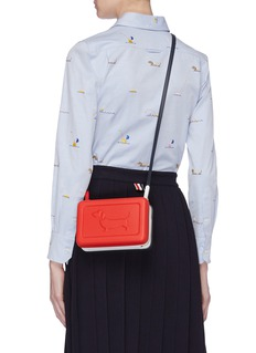 Thom Browne Hector embossed leather crossbody bag