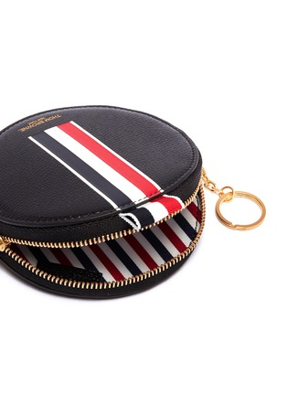 Detail View - Click To Enlarge - Thom Browne - Stripe pebble grain leather coin pouch