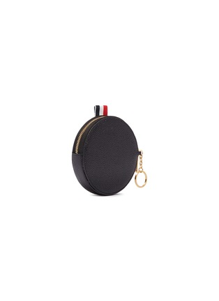 Figure View - Click To Enlarge - Thom Browne - Stripe pebble grain leather coin pouch