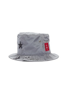 SMFK x R!CH 'Gemini' star appliqué reflective bucket hat