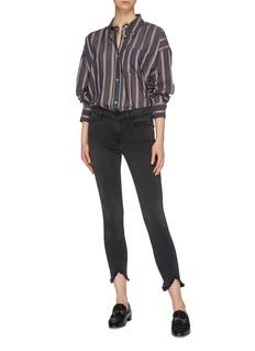 Frame Denim 'Le Skinny de Jeanne' triangle cutout cuff jeans