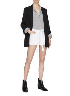 Frame Denim 'Le Cut Off' belted denim shorts