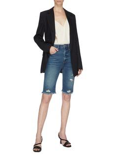 Frame Denim 'Le Vintage' frayed cuff ripped denim Bermuda shorts