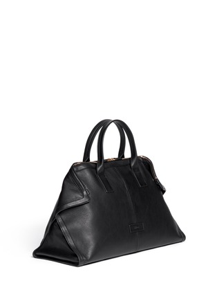 Detail View - Click To Enlarge - Alexander McQueen - Leather manta carryall bag