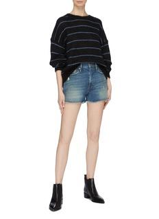 Frame Denim 'Le Vintage' raw cuff ripped denim shorts
