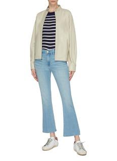 Frame Denim 'Le Crop Mini Boot' braided waistband flared jeans