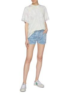 Frame Denim 'Le Grand Garçon' raw edge washed denim shorts