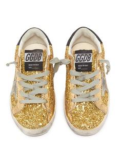 Golden Goose 'Superstar' coarse glitter toddler sneakers