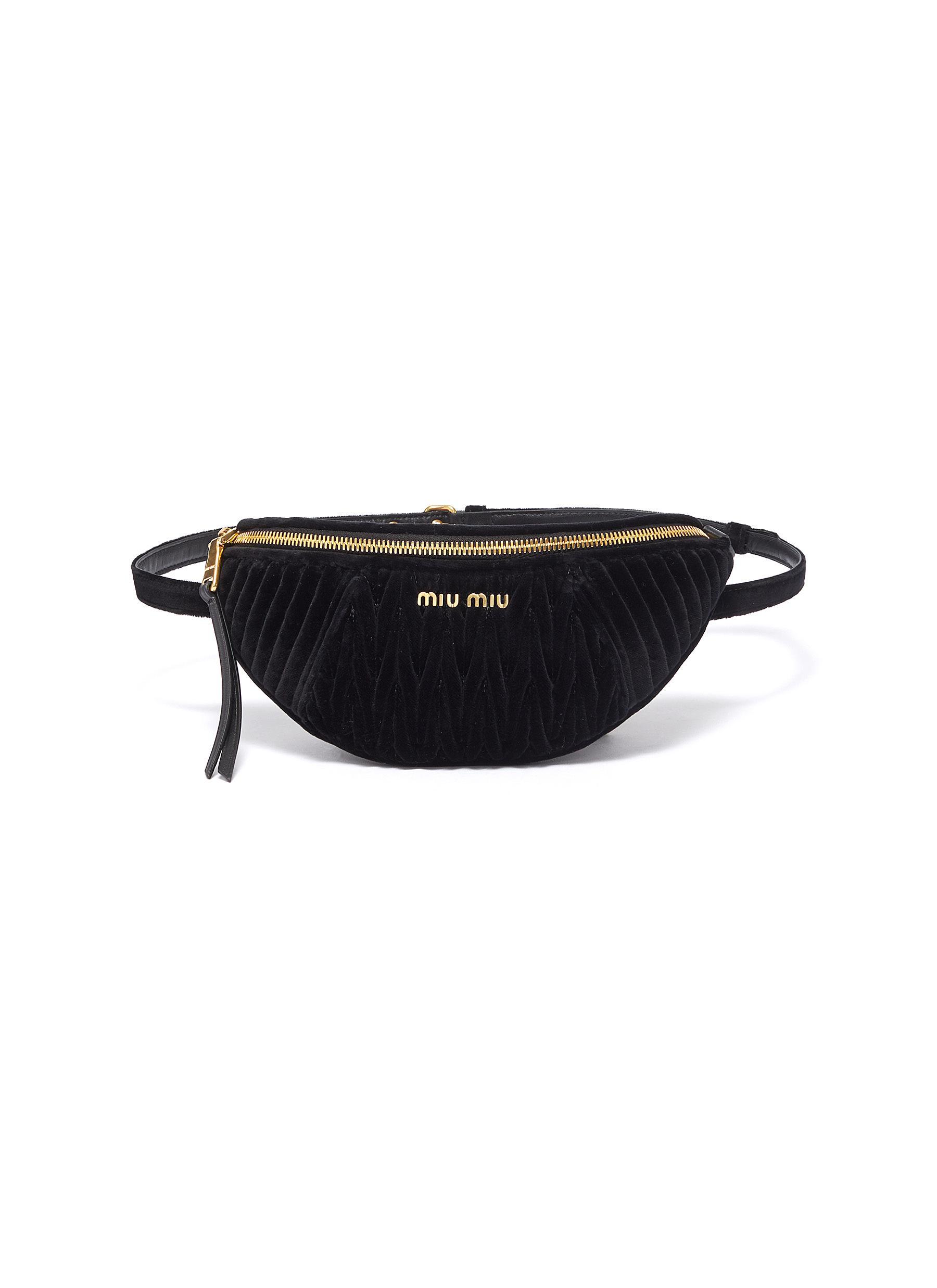7b9791233add Main View - Click To Enlarge - Miu Miu - Matelassé velvet mini bum bag