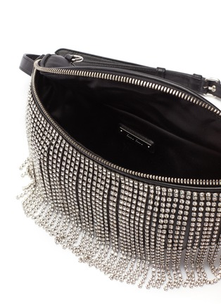 Detail View - Click To Enlarge - MIU MIU - Glass crystal fringe leather bum bag