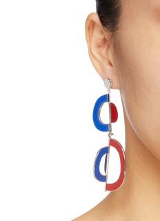 OOAK 'Vertigo' detachable colourblock drop single earring