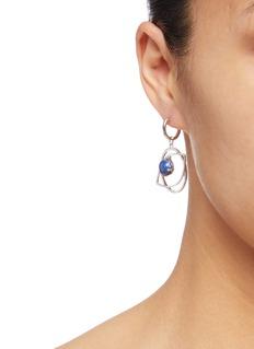 OOAK 'Anisocoria' hoop drop earrings