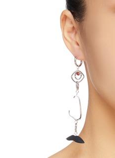 OOAK Detachable profile drop single earring