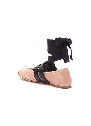 - miu miu - Lace-up buckled strap ballet flats