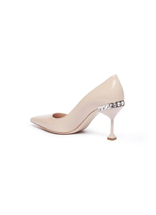 - MIU MIU - Strass heel patent leather pumps