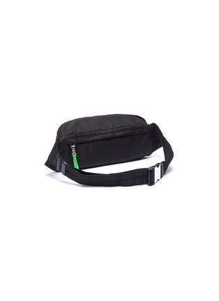 Detail View - Click To Enlarge - PRADA - Logo patch contrast zip pull bum bag