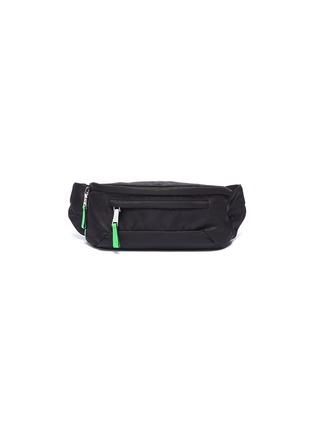 Main View - Click To Enlarge - PRADA - Logo patch contrast zip pull bum bag