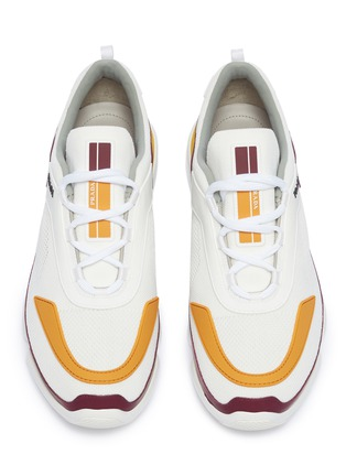 Detail View - Click To Enlarge - Prada - 'Cloudbust' colourblock panelled sneakers