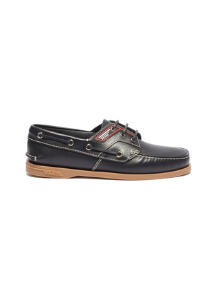 Main View - Click To Enlarge - Prada - Leather deck shoes