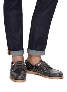 Prada Leather deck shoes