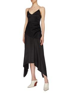 MATÉRIEL Detachable wool corset belt silk handkerchief slip dress