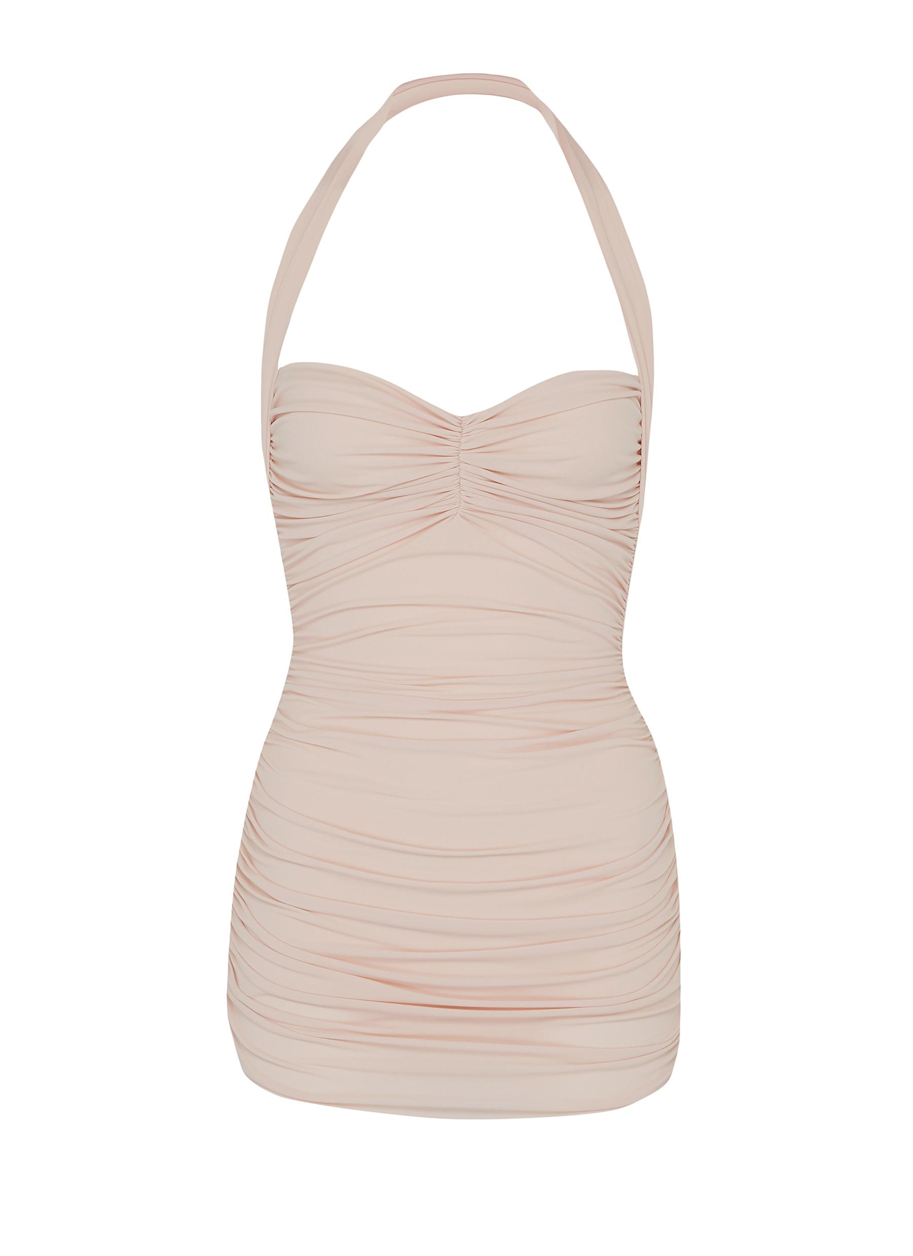 Bill Mio ruched halterneck one-piece swimsuit by Norma Kamali