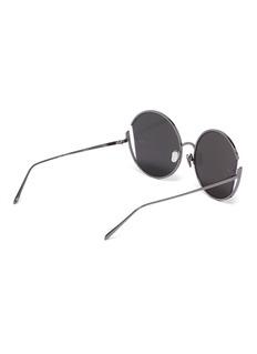 Linda Farrow 'Quarry' metal cutout round sunglasses