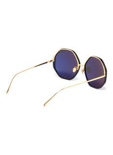 Linda Farrow Acetate rim metal oversized octagon frame sunglasses