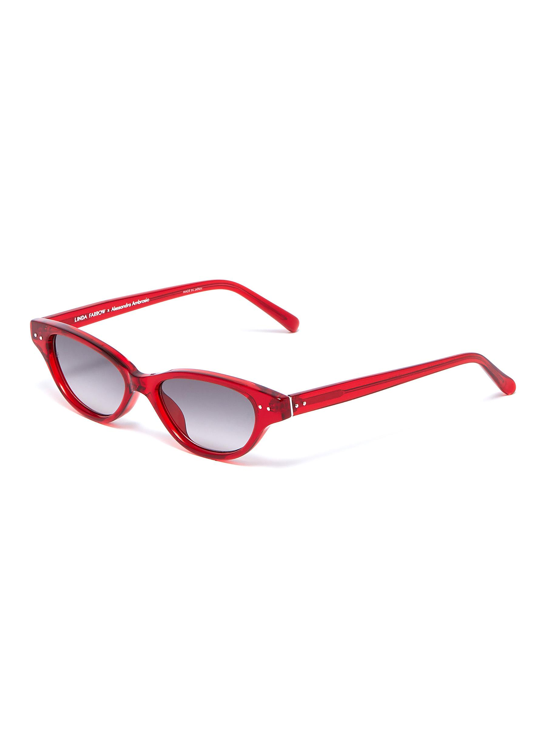 a146f481204 Linda Farrow. Acetate narrow cat eye sunglasses