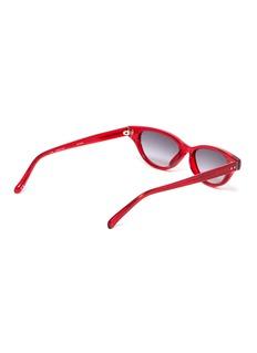 Linda Farrow Acetate narrow cat eye sunglasses