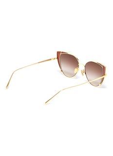 Linda Farrow 'Des Veoux' contrast corner metal cat eye sunglasses