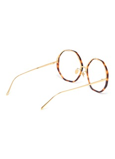 Linda Farrow Tortoiseshell acetate oversized octagon frame optical glasses