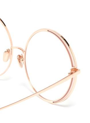 Detail View - Click To Enlarge - Linda Farrow - Contrast rim metal round optical glasses