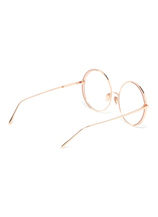 Figure View - Click To Enlarge - LINDA FARROW - Contrast rim metal round optical glasses