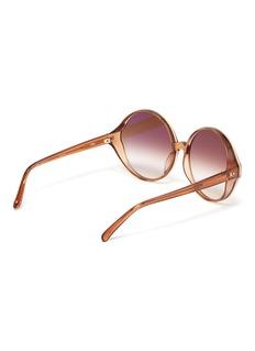 Linda Farrow 'Eden' acetate oversized round sunglasses