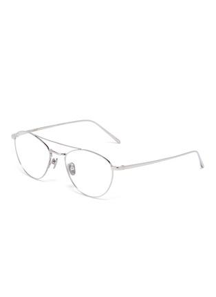 92d86d91213 Linda Farrow. Titanium aviator optical glasses
