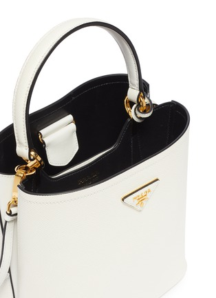 Detail View - Click To Enlarge - Prada - 'Double' small leather tote