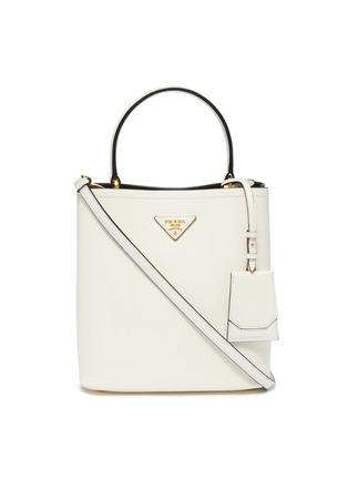 Main View - Click To Enlarge - Prada - 'Double' small leather tote