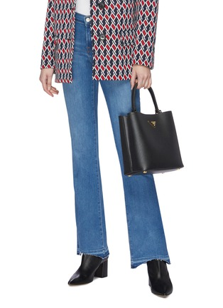 Front View - Click To Enlarge - Prada - 'Double' small leather tote bag