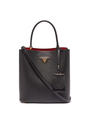 Main View - Click To Enlarge - Prada - 'Double' small leather tote bag