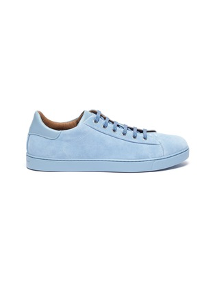 Main View - Click To Enlarge - Gianvito Rossi - Leather collar suede sneakers