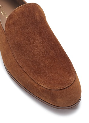 Detail View - Click To Enlarge - Gianvito Rossi - Suede loafers